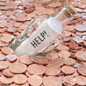Financial crisis call for help — Stock Photo