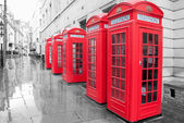 Red telephone boxes — Stock Photo