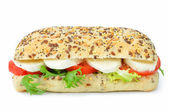 Mozzarella and tomato sandwich — Stock Photo
