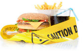 Unhealthy food caution — Zdjęcie stockowe