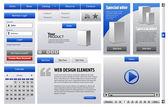 Modré obchodní web design — Stock vektor