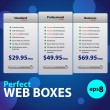 Perfect Web Boxes Hosting Plans For Your Website - Stock Vector