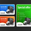 Special Offer Banner Set Vector - Stock Vector