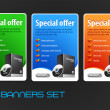 Special Offer Big Banners Set Vector — Stock Vector #8421557