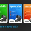 Special Offer Big Banners Set Vector — Stock Vector