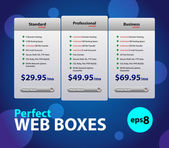 Perfect Web Boxes Hosting Plans For Your Website — Stock Vector