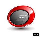 Red Round Banner — Stock Vector