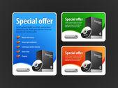 Special Offer Banner Set Vector — Stock Vector