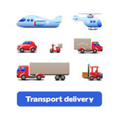 Transport Delivery Web Icon Set — Stock Vector