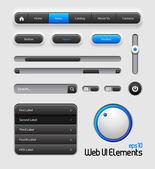 Diseño de elementos de interfaz de usuario web — Vector de stock