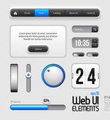 веб-дизайн элементов пользовательского интерфейса — Cтоковый вектор