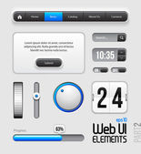 Web UI Elements Design — 图库矢量图片