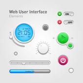 Elementi dell'interfaccia utente web — Vettoriale Stock