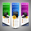 banner oferta especial set vector de color — Vector de stock