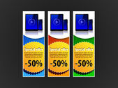 Special Offer Banner Set Vector Colored 7 — 图库矢量图片