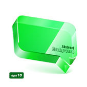 Speech Bubble Glass Green — Cтоковый вектор