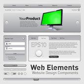 Web Elements Website Design Components Gra — Stock Vector