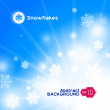 Snowflakes Abstract Background — Stock Vector #8537902