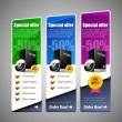 Special Offer Banner Set Vector Colored - Stock Vector