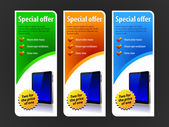Special Offer Banner Set Vector Colored — Stock Vector