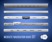 Web elements navigation bar set — Stockvektor