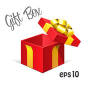 Red Opened Gift Box — Stock Vector