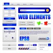 Hi-End Web Interface Design Elements — Stockvectorbeeld