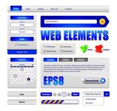 éléments de conception de salut-end web interface — Vecteur