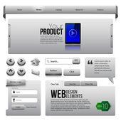 Metal linten website designelementen — Stockvector