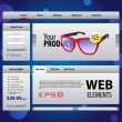 Perfect Web Elements Template Design — Vettoriali Stock