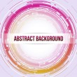 Round Abstract Background Pink Orange — Stock Vector