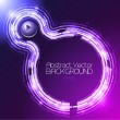 Double Circle Round Abstract Background Dark Violet — Stock Vector