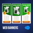 Special Offer Banner Set Vector Green — Stock Vector