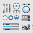 Stock Vector: Web UI Elements Design Gray Blue