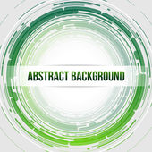 Round Abstract Background Light Green — Stock Vector