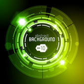 Shiny Dark Round Background Green — Stock Vector