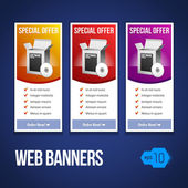 Special Offer Banner Set Vector Colored — Wektor stockowy