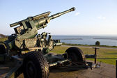 WW2 Artillery at Dover Pointed Towards the English Channel — Stock Photo