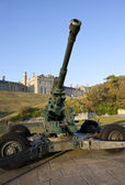 WW2 Artillery and Officer's Mess at Dover Castle — Stockfoto