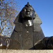 Sphinx on London Embankment — Stock Photo