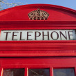 rote telefonzelle in london — Stockfoto