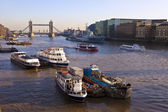 Tower Bridge and The River Thames at Sunset — Stock Photo