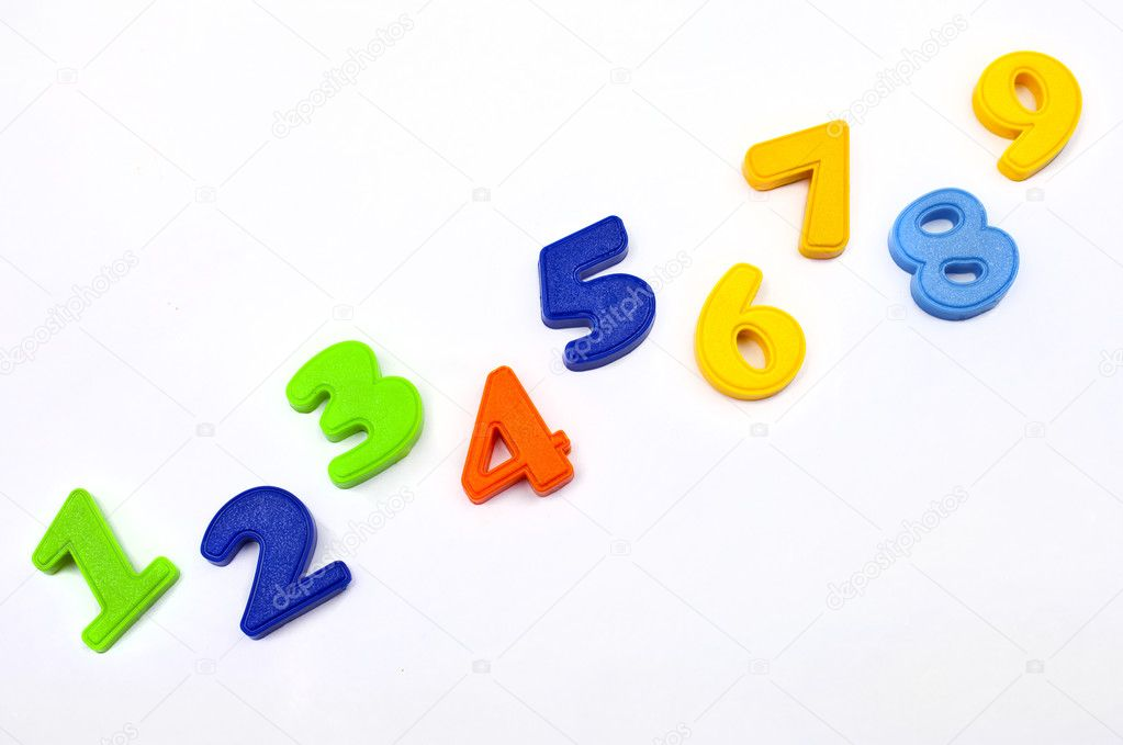 Numbers 1 to 9. — Stock Photo #8727507