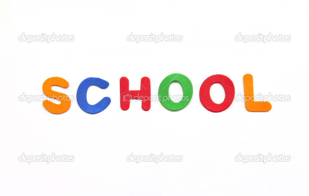 'School' spelt out in multi-coloured lettering. — Stock Photo #8727740