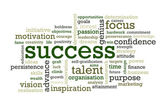 Success Words — Stock Photo