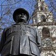 Stock Photo: Bomber Harris Statue and St Clement Danes Church