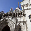 The Royal Courts of Justice in London - 图库照片