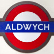 Stock Photo: Old Aldwych London Underground Sign