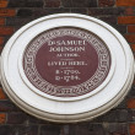 Samuel Johnson Plaque on Johnson House in London — Stock Photo