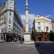 Stock Photo: Seven Dials Sundial Column in London